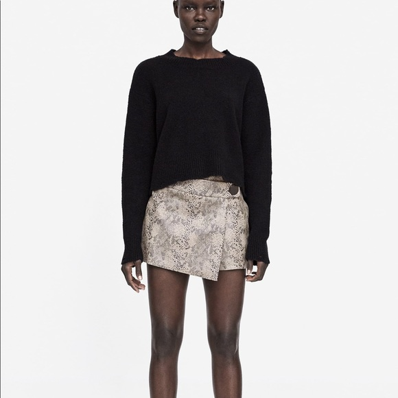 best place best place for discount collection Zara Snakeskin Skort